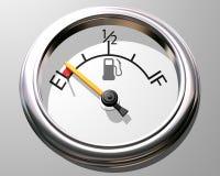 Calibrador de combustible stock de ilustración