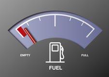 Calibrador de combustible del coche Foto de archivo