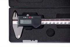 Calibrador de desplazamiento en el rectángulo Imagenes de archivo