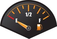 Calibrador de la gasolina Foto de archivo libre de regalías