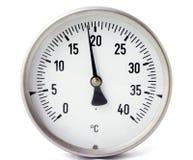 Calibrador de la temperatura imagenes de archivo
