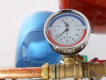 Calibrador de la temperatura y de presión Imagen de archivo libre de regalías