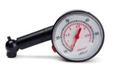 Calibrador de presión de neumático Foto de archivo