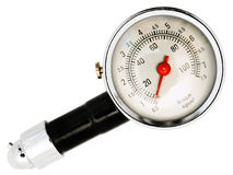 Calibrador de presión de neumático Imagenes de archivo