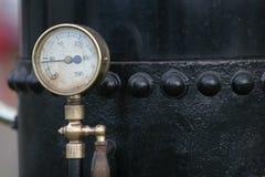 Calibrador de presión del vapor Fotos de archivo