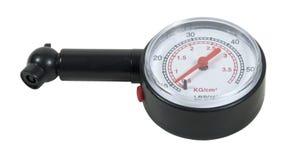 Calibrador de presión negro Imagenes de archivo