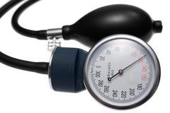 Calibrador de presión y bomba de aire Fotografía de archivo