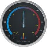 Calibrador de temperatura del agua Imágenes de archivo libres de regalías