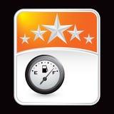Calibrador del gas en fondo anaranjado de la estrella Fotos de archivo libres de regalías