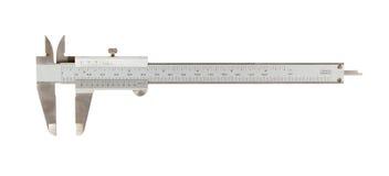 Calibrador usado viejo (un instrumento para medir) Imagen de archivo
