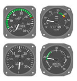 Calibradores de los aviones (#3) Imagenes de archivo