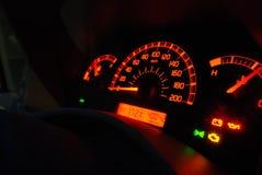 Calibradores del automóvil iluminados Imagen de archivo