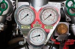 Calibradores del coche de bomberos imagenes de archivo
