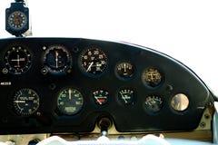 Calibradores en la carlinga de Cessna. Fotos de archivo
