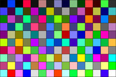 Calibration chart. Multi colored calibration chart, all colors, background pattern Vector Illustration