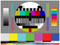 Calibration Color TV Stock Image