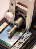 Calibration surface roughness tester machine with gage bloc Royalty Free Stock Photography