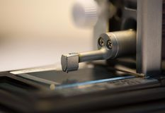 Calibration surface roughness tester machine with gage bloc Royalty Free Stock Photo