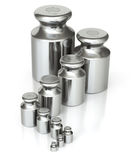 Calibration weight set with various sizes Royalty Free Stock Photo