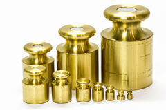 Calibration weight set Stock Image