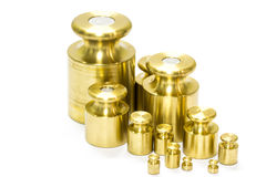 Calibration weight set royalty free stock images