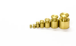 Calibration weight set Stock Photography