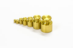 Calibration weight set Royalty Free Stock Photos