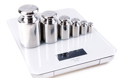 Calibration Weight Silver Royalty Free Stock Photography