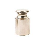 Calibration weight silver Stock Photography