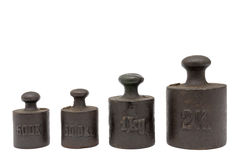 Calibration weights royalty free stock images