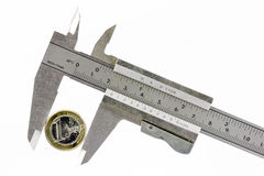 calibrator euro jeden Zdjęcia Stock