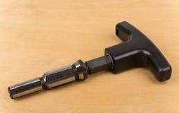 Calibrator for metal-plastic pipe water Stock Image