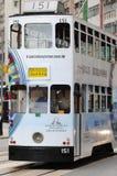 Calibratore per allineamento dell'autobus a due piani a Hong Kong. Immagini Stock