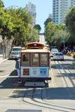 Calibratore per allineamento della cabina di funivia a San Francisco, S.U.A. Fotografie Stock Libere da Diritti