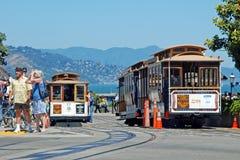 Calibratore per allineamento della cabina di funivia a San Francisco, S.U.A. Fotografie Stock