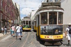 Calibratore per allineamento giallo di Lisbona Fotografia Stock