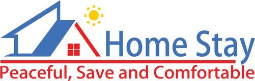 Calibre à la maison de séjour et de logo illustration de vecteur