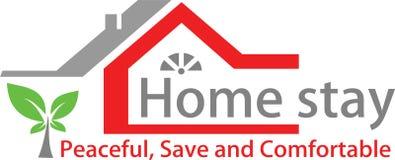 Calibre à la maison de séjour et de logo illustration stock