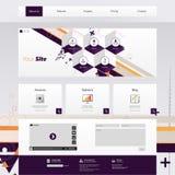 Calibre à la mode et créatif moderne de site Web Illustration abstraite ENV 10 de web design Images libres de droits