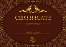Calibre élégant de certificat, diplôme illustration libre de droits