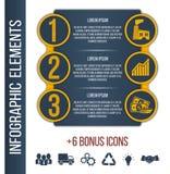Calibre étape-par-étape de brochure d'Infographic Photographie stock libre de droits