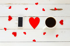 Calibre aérien de vintage de jour du ` s de St Valentine pour je t'aime la confession des textes Image libre de droits