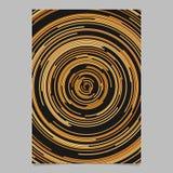 Calibre abstrait circulaire orange de fond d'affiche des lignes incurvées concentriques illustration stock