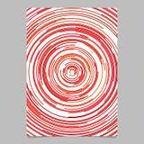 Calibre abstrait circulaire rouge de fond de page des demi-cercles concentriques illustration stock