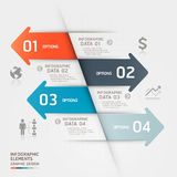 Calibre abstrait d'infographics d'affaires. Photos stock