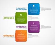 Calibre abstrait d'infographics d'options d'affaires Photo stock