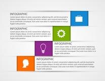 Calibre abstrait d'infographics d'options d'affaires Images stock