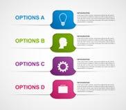 Calibre abstrait d'infographics d'options d'affaires Photos stock