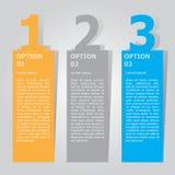 Calibre abstrait d'options de nombre d'infographics Illustration de vecteur peut être employé pour la disposition de déroulement  illustration de vecteur