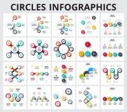 Calibre abstrait d'options de nombre d'infographics Image stock